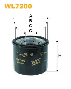 Wix WL7200 Car Oil Filter - Spin-On Replaces W671 PH11275 OC195