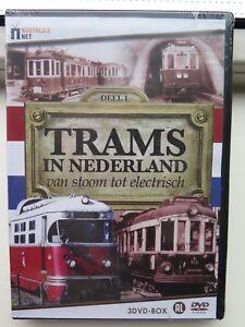 Trams-in-Nederland-Van-stoom-tot-electrisch-3DVD-box-nieuw-in-seal
