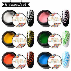 RBAN-NAIL-5ml-Painting-Nail-Art-Soak-Off-Gel-Polish-Varnish-Set-Manicure-UV-LED