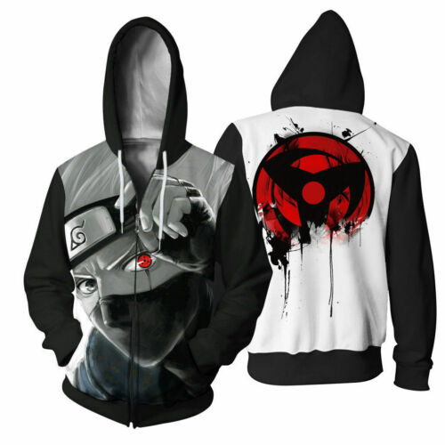 Naruto0 Anime Hoodie Kakashi 3D Print Coat Women Men Sweatshirt Sharinga Cosplay