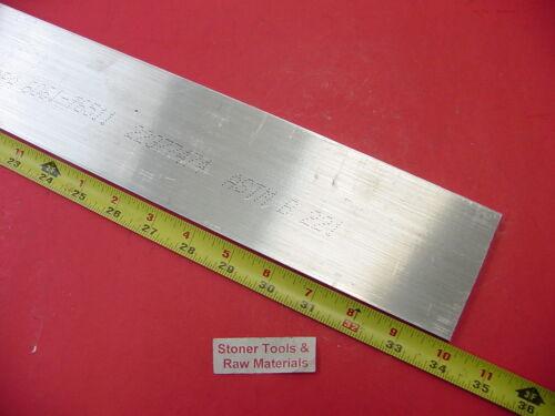 """1//4/"""" X 3/"""" ALUMINUM FLAT BAR 34/"""" long 6061 T6511 .250/"""" Plate Mill Stock"""