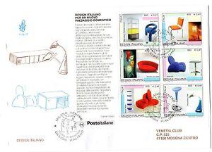 2001-REPUBBLICA-BUSTA-FDC-FOGLIETTO-DESIGN-V-1006