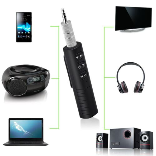 Wireless Bluetooth 3.5mm AUX Audio Stereo Music Mic HomeCar Receiver Adapter Lot