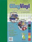 """Grafix KCF9ASST Cling Vinyl 9""""x12"""" 9/pkg"""