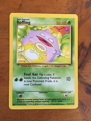 NM Wizards of the Coast Common Pokemon Card Koffing 51//102
