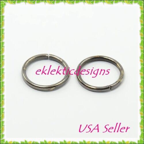 8mm 50pcs Gunmetal Plated Jump Rings Jewelry Findings Open Split Earrings