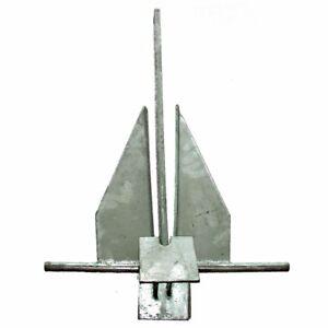 Plattenanker Stahl Bootsanker Osculati Danforth Anker verzinkter Stahl 8,0 kg