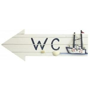 Image Is Loading Wooden WC Arrow With Fishing Boat Toilet Bathroom