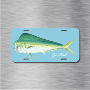 Mahi-Mahi Vehicle Front License Plate Auto Car Fishing Ocean Salt water Fish NEW