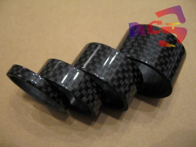 """4pcs 3K Full Carbon Spacer 1-1/8"""" Headset Stem Steering Tube - 5-10-15-20mm"""