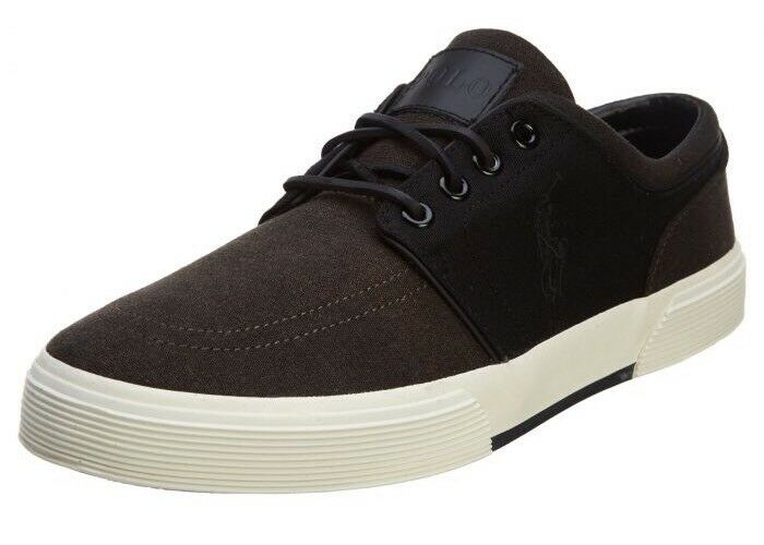 Polo Ralph Lauren Mens Faxon Low Cut Sport Black Canvas shoes Size 11 D