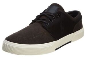 2be1379c1 Polo Ralph Lauren Mens Faxon Low Cut Sport Black Canvas Shoes Size ...
