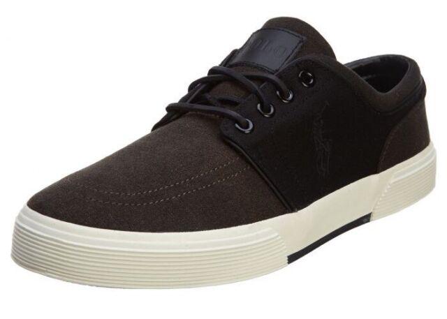 D Faxon Sneaker 10 Ralph Low Men's 5 Lauren Size Black Polo dCBerxo