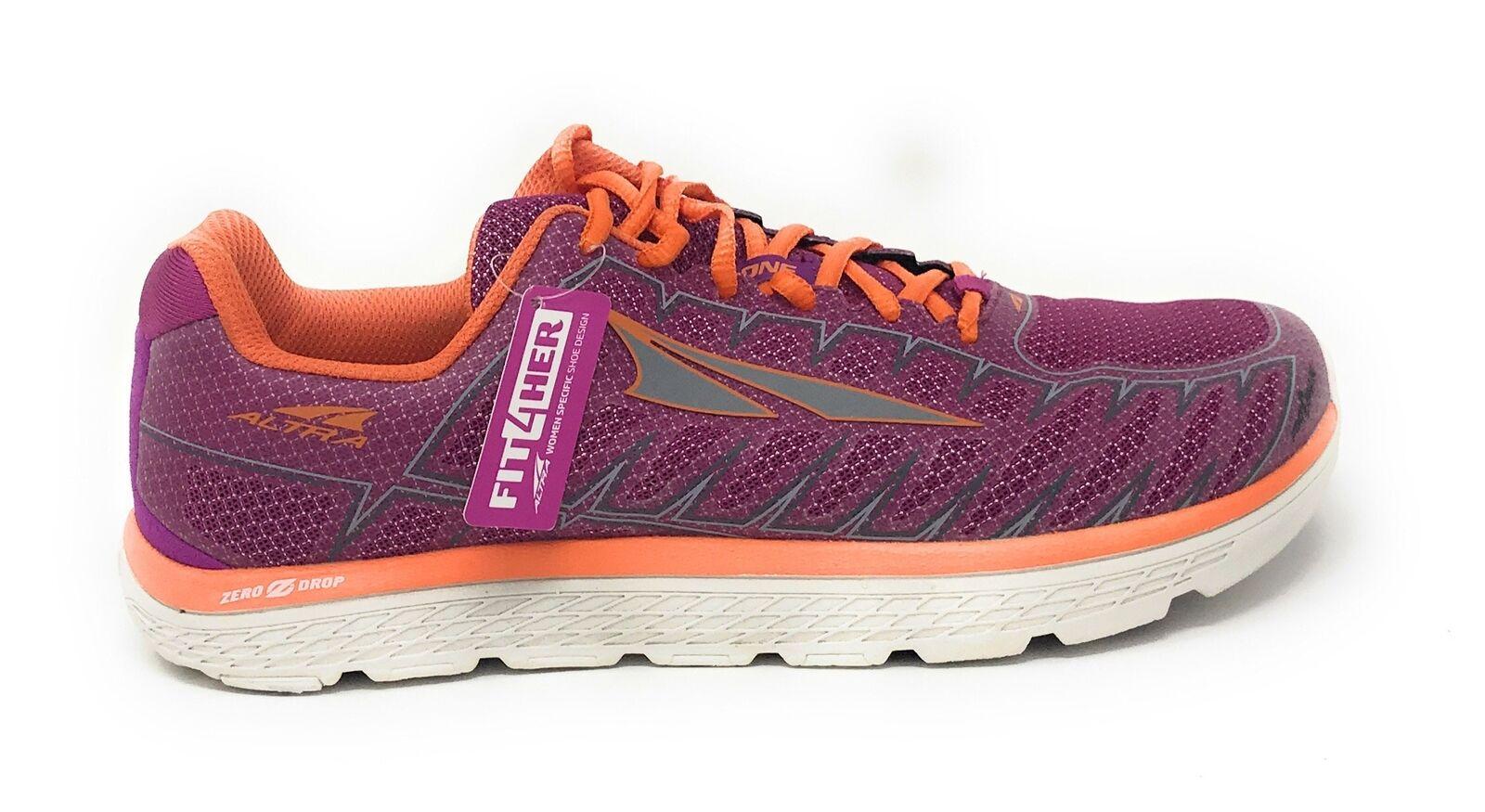 Altra Women's One V3 Running shoes, Purple orange, 9.5 B US Used
