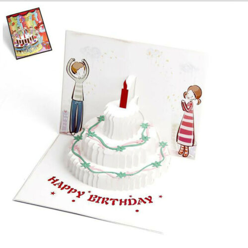3D Paper Crafts Greeting Cards Christmas Holiday Handmade Postcard Gift Card L