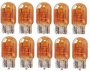10 x 580 380W Amber Stop Tail Brake Light Bulbs Large Capless Car Van 12v 21//5w