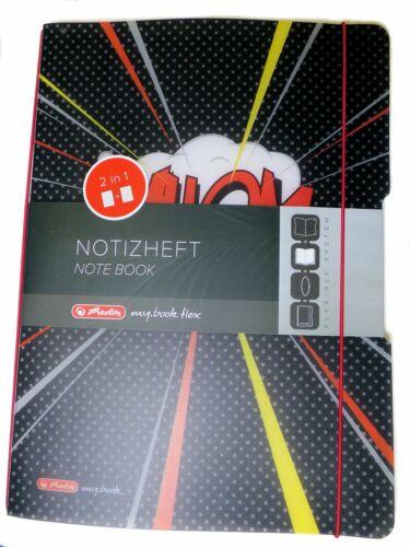 """Herlitz® Notizheft flex PP A4,40Blatt kariert und 40Blatt liniert /""""Comic Whom/"""""""