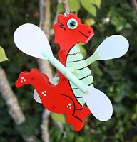 Dragon Red Dragon Whirligig / Whirlygig (hanging)