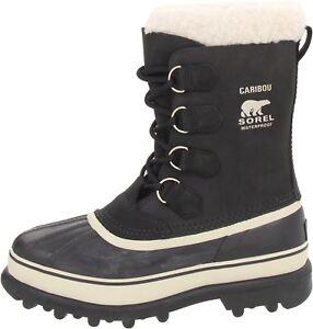 Sorel-Women-039-s-Caribou-Black-Stone-Winter-boots-New