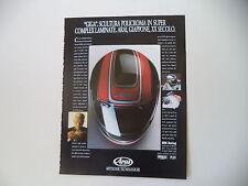 advertising Pubblicità 1989 CASCO HELMET ARAI GIGA