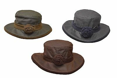 Walker /& Hawkes Ladies Wax Riding Thelma Bow Knot Hat W Tartan 100/% Waxed Cotton