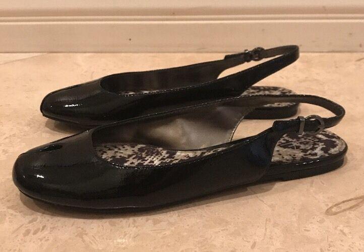 prodotto di qualità SAM EDELMAN Boutique nero Patent Leather Leather Leather Sling Back Flats Donna's Sz 8M NEW     presa di marca