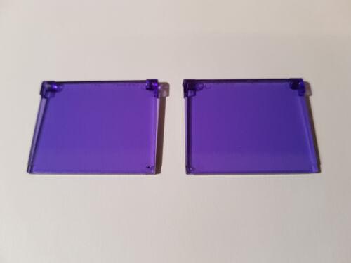 #ac04 Lego ® 2 x 60603 Verre Pour Fenêtre 1 x 4 x 3 transparente violet 6170921