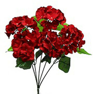HYDRANGEA BUSH ~ DARK RED ~ Silk Wedding Flowers Bouquets Centerpieces Decor