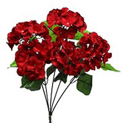 HYDRANGEA BUSH ~ DARK RED ~ Silk Wedding Flowers Bouquets Centerpieces Decor