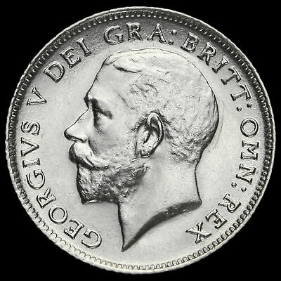 1914 George V Silver Sixpence, G/EF