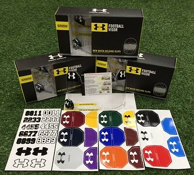 UNDER ARMOUR Football Visor - OPTIC CLEAR  - Hardware Included - NEW IN BOX