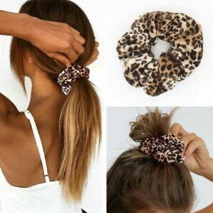 Leopard-Print-Hair-Bands-Scrunchie-Elastic-Scrunchy-Ponytail-Holder-Hairband-so