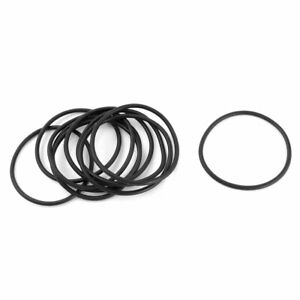 10Pcs 50mm OD 2.5mm Thick Flexible Rubber O Ring Oil Seal Gaskets