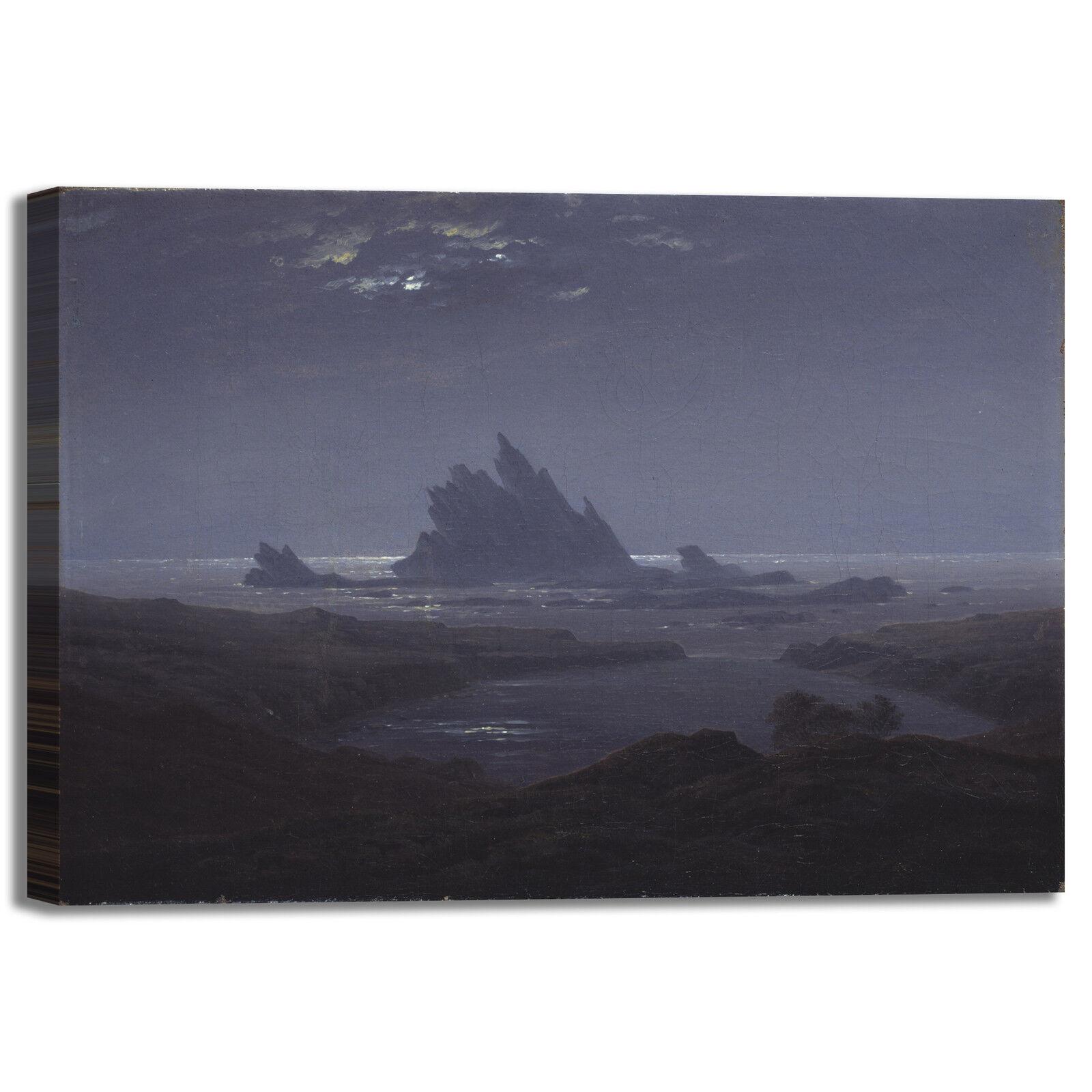 Caspar scogliera rocciosa design quadro stampa tela dipinto telaio arroto casa