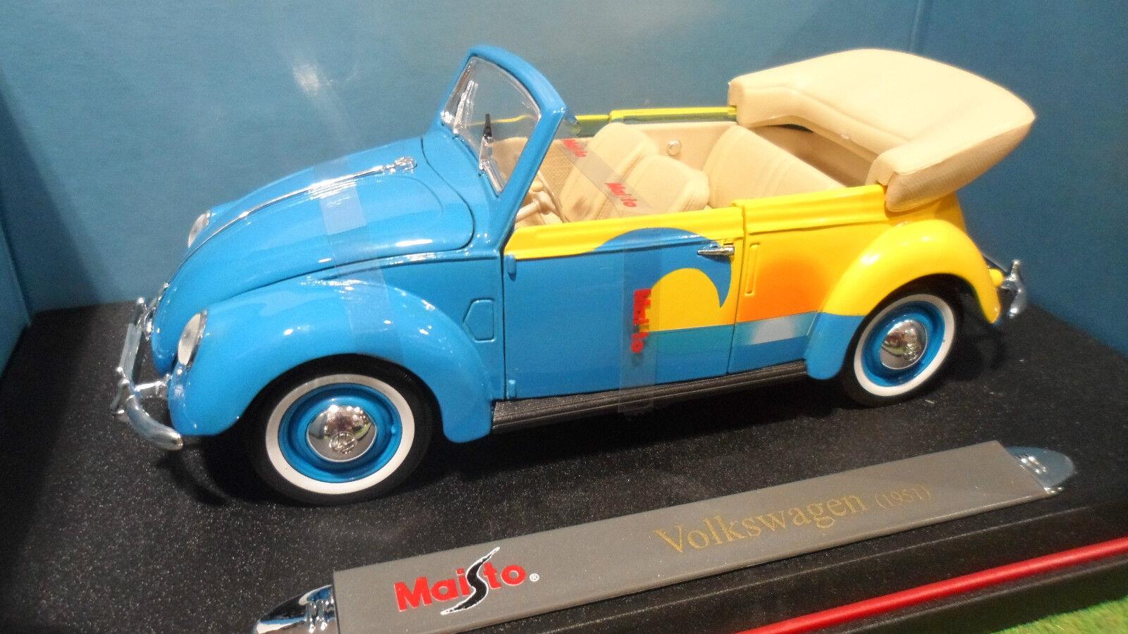 VOLKSWAGEN COCCINELLE Cabriolet au 1 18 MAISTO 35820 voiture miniature