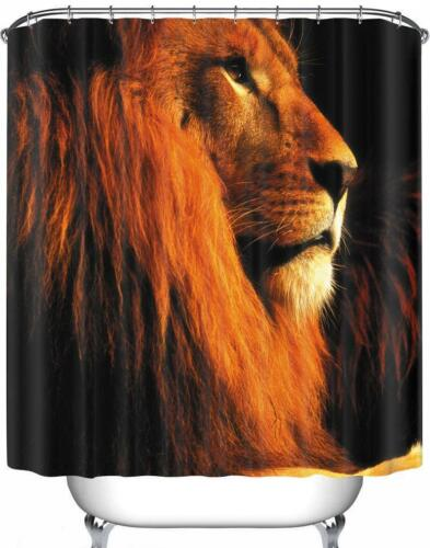 Lion Wild Cat Animal Head /& Mane King of the Jungle Bathroom Shower Curtain