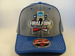 NCAA-Final-Four-Houston-2016-Zephyr-Adjustable-Strap-Hat-Cap-Gray-Blue