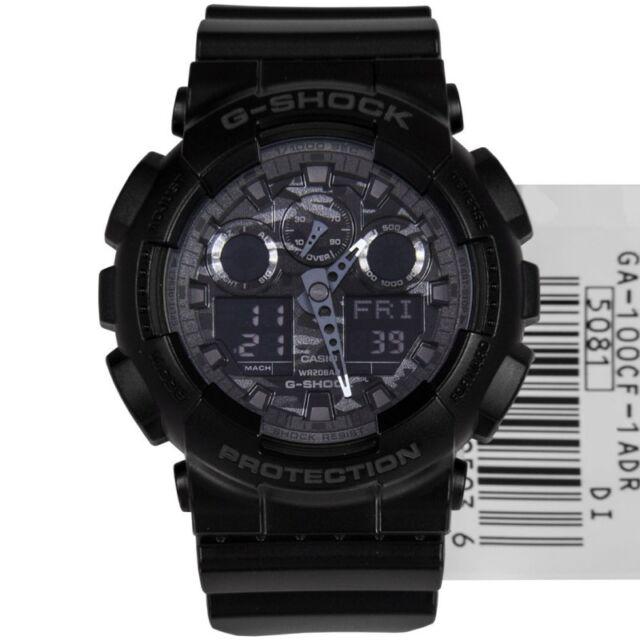 Casio G-Shock Mens Wrist Watch GA100CF-1A GA-100CF-1A Digital-Analogue Black