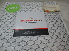 New Happy Chic by Jonathan Adler OGEE Twin Sheet Set ~   Gray & White NIP