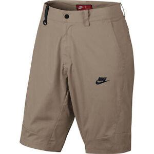 Nike-Sportswear-Bonded-Woven-Shorts-Khaki