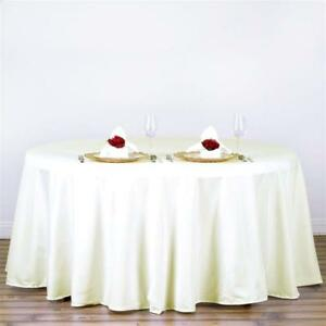 Ivory-120-in-Polyester-Seamless-Tablecloth-Wedding-NEW