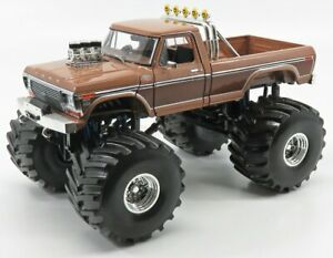 GREENLIGHT 1/18 FORD USA   F-350 BFT BIGFOOT MONSTER TRUCK 1975   2 TONE BROWN