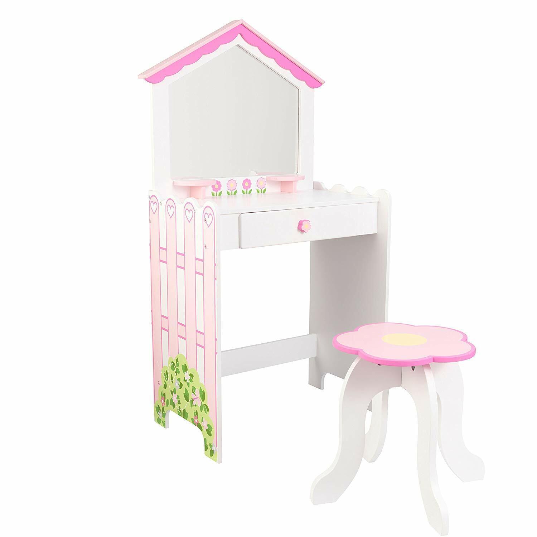 NEUF EnfantKRAFT ENFANT Vanity & Tabouret (parcravate de Maison de Poupée chambre à coucher collection)
