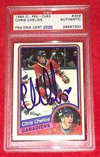 Chris Chelios Canadiens Signed Autograph 1984-85 OPC HOF Rookie PSA/DNA Slabbed