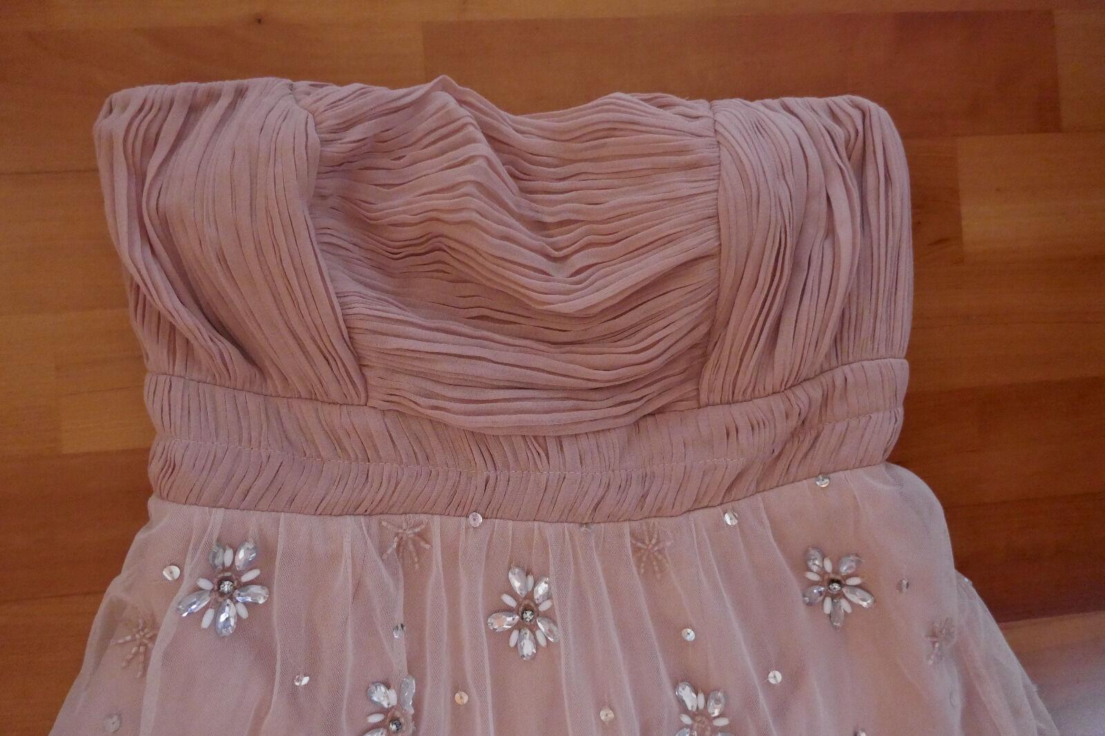 Kleid Damen Frock and Frill Rosa Rosa Rosa Strass Perlen Bandeau Gr. 38 Tüll Ball Fest neu a8c3ca
