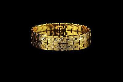 Design Armband 10 Mm 750er Gold 18 Karat Vergoldet Gelbgold Damen Herren B2538 Eleganter Auftritt