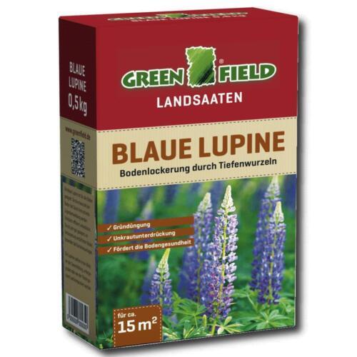 Greenfield Lupine Blau 500 g Gründüngung Nutzpflanze Zwischenfrucht