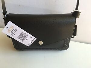 2a4ca406e2d1 Image is loading NWT-Michael-Kors-Greenwich-Small-Flap-Messenger-Crossbody-