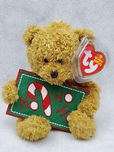 TY Beanie Babies - HO HO HO the Bear holiday Christmas (ci)
