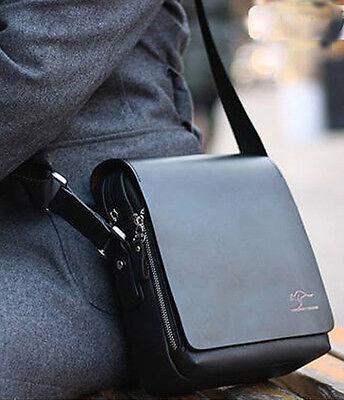 Fashion Kangaroo Men Crossbody Shoulder Messenger Bag Briefcase Black S Vertical